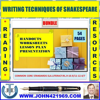 WRITING TECHNIQUES OF SHAKESPEARE BUNDLE