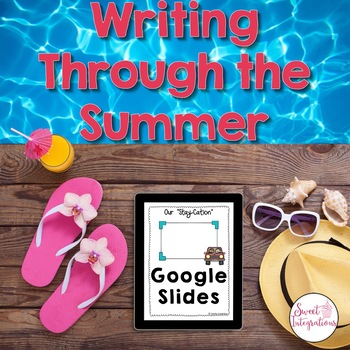 DIGITAL WRITING PROMPTS THROUGH THE SUMMER - Google Slides™