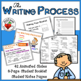 THE WRITING PROCESS - Animated PowerPoint, 8-Page Booklet and Notes Pages