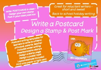 POSTCARD WRITING and DESIGN A STAMP