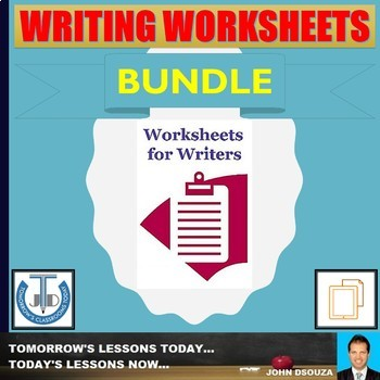 WRITING WORKSHEETS AND TASK CARDS BUNDLE
