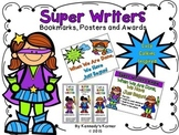 WRITING WORKSHOP ~Lucy Calkins inspired Super Hero Posters, Bookmarks and Awards