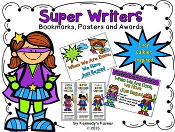WRITING WORKSHOP ~Lucy Calkins inspired Super Hero Posters