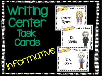 Informative Writing Task Cards-Authors
