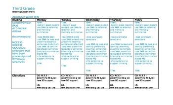 Spalding WRTR Reading Lesson Plans +CCSS (G3 Q2)