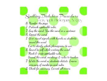 WRTR - Spalding Method Procedure Cards