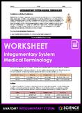 Worksheet - Integumentary System Medical Terminology (HS-LS1)
