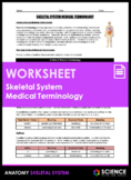 Worksheet - Skeletal System Medical Terminology (HS-LS1)