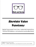 WS Packet - Absolute Value Functions and Transformations