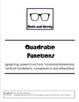 Investigation and WS Packet - Quadratic Functions and Transformations