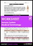 Worksheet - Sensory System Medical Terminology (HS-LS1)