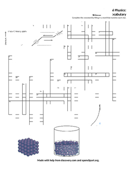WS new concepts vocab IB 3 Thermal Physics