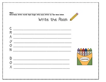 WTR (Write the Room) Crayon Box