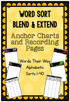 WTW Anchor Charts and Recording Sheets