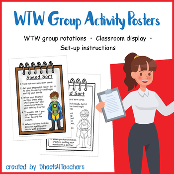 Group Activity Posters for Words Their Way (Superhero)