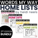 Words My Way Home Lists and Data Bundle