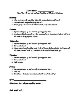 WTW Sort 9 Lesson Plans