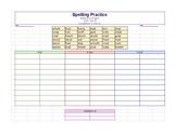 WTW Spelling Practice: Sorts 14 and 15