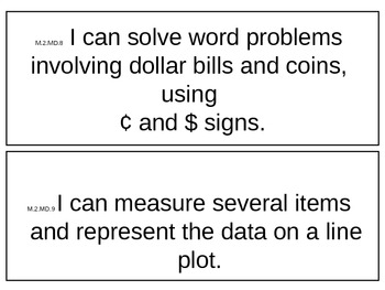 WV Grade 2 Common Core I Can Statements for Math and Language Arts