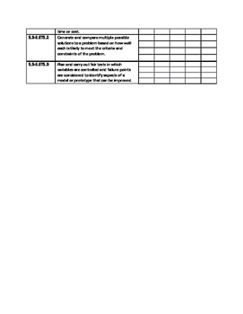 WV Next Generation Standards Monthly Checklists - 4th Grade Science
