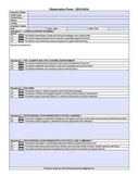 WV Teacher Observation Form for the iPad