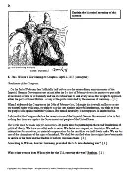 WW I Primary Sources - US History