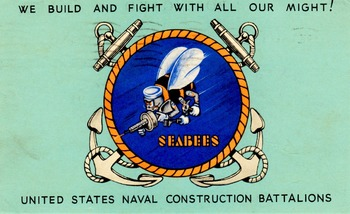 WW II Postcard - American Sea Bees