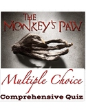 "WW Jacobs' ""The Monkey's Paw"" Quiz 60 Mult. Choice Ques w/"