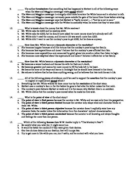 "W.W. Jacobs' ""The Monkey's Paw"" 15-Question Multiple Choice Quiz"