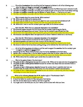 """W.W. Jacobs' """"The Monkey's Paw"""" 15-Question Multiple Choice Quiz"""