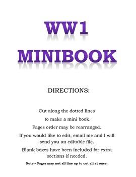 WW1 5W MINIBOOK