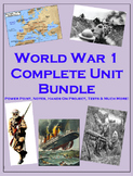 WW1 COMPLETE Unit (PPT, Notes, Hmk, Tests, Classwork, Projects, Warm Ups., etc)