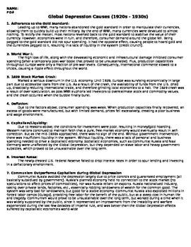 WW1 - Causes