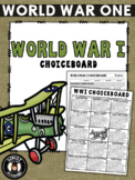 WWI ChoiceBoard Assignment + Rubric [WW1 - World War One]