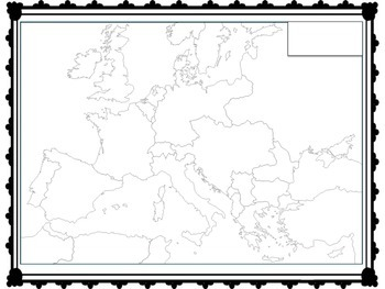 WW1 MAP ACTIVITY - Europe During The War 1914-1918