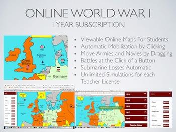 World War 1 Simulation Online Platform
