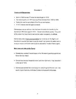 WW1 Paris Peace Treaty Simulation