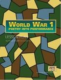 Poetry Into Performance, WW1 drama lesson plan, Sassoon, World War 1, Grades 4-9