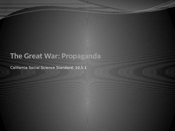 WW1 Propaganda Poster