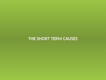 WW1 - Short term causes and trigger event World war 1