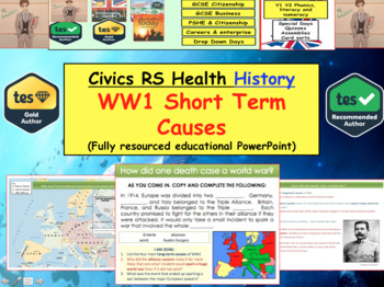WW1 - Short term causes and trigger event World war 1