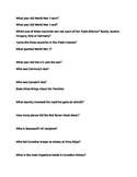 WW1 Trivia Questions