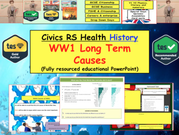 WW1 long term causes European History War and conflict World war one