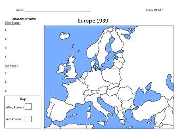 WW2 Alliances Map