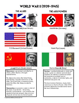 Allied And Axis Powers Worksheets & Teaching Resources   TpT