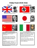 WW2 Allies & Axis Powers