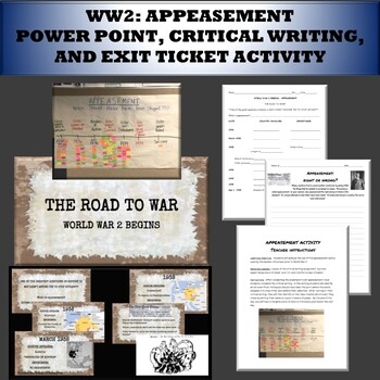 WW2: Appeasement power point and outline