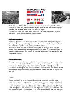 WW2 Comprehension