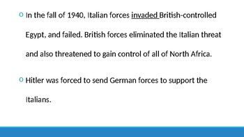 WW2 - Fighting in Italy and Africa