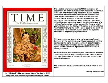 """WW2 - Hitler """"Time: Man of the Year"""" 1939"""